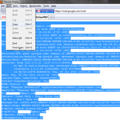 screenshot of the copy command on the edit toolbar.